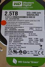 2,5 TB Western Digital WD25EZRX-00AZ6B0 / HARCHV2AAB / SEP 2011 - disque dur HDD