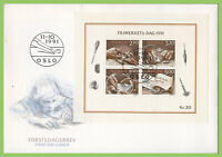 Norway 1991 Stamp Day. Stamp Engraving sheet on First Day Cover
