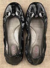 Women's Flats Ballerina Black MeToo Patent Leather Size 7 M