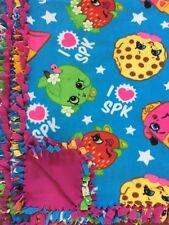 """SHOPKINS Handmade Fleece Tie BLANKET - LARGE 55""""x65"""""""