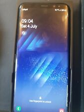 Samsung Galaxy s8+ plus 64GB Black unlocked cracked screen