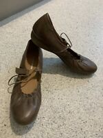 "Ladies DJANGO & JULIETTE Brown Leather Mary Jane Comfort Shoes ""Janie"" Size 36"