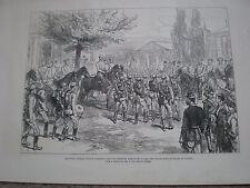 Czar Alexander II Grand Duke Nicholas at Ploesti Romania 1877 print ref W
