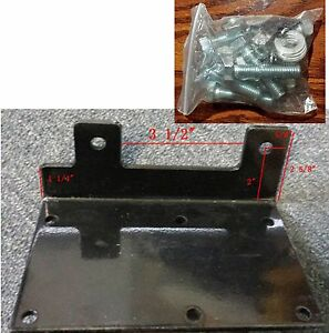 plate+screws/nuts Generic ATV winch mounting plate