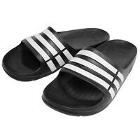 Adidas Mens Duramo Silders Slides Flip Flops Shoes Pool Beach Slip On Black