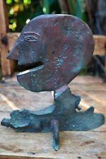 Heavy Copper Original Primitive Artisan Abstract Sculpture Bust Head