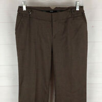 MOSSIMO womens size 2 stretch brown flat front mid rise bootcut dress pants EUC