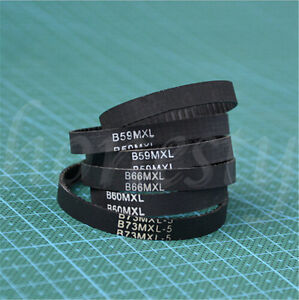 B59/60/66/73/75/80  MXL Toothed Belt Cogged Gear Rubber 3D Printer Timing Belt
