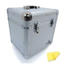 "Gorilla LP80 12"" LP Vinyl Record Carry Storage Case Box - Silver - Holds 80"