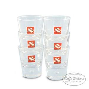 illy Espresso Glas - Gläser -Shot Gläser, 6 Stück - Caffe Milano
