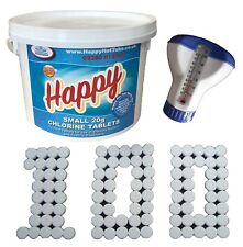 100 Chlorine Tablets 20g + Dispenser + Thermometer Hot Tubs Swimming Pool