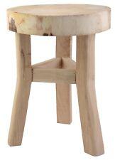 39 cm Hocker MASSIV Holz rustikal Stuhl Holzhocker Deko Schemel Sitzhocker