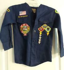 Bsa Boy Scouts Uniform Blue Long Sleeve Cub Scout 980's with Lots of Patches