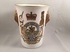 Caverswall Lion Head Beaker Queen Elizabeth 2 Coronation 25th Anniversary LE