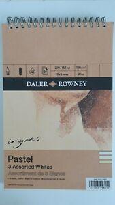 "Daler Rowney Ingres Pastel Paper Pad - White Shades 9"" x 6""  Slightly Damaged"