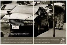 1992 CADILLAC Seville Vintage Original 2 page Print AD black car photo Canada FR