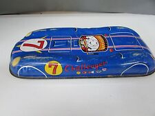 CHALLENGER 7 RACE CAR JAPAN VINTAGE TIN PLATE FRICTION