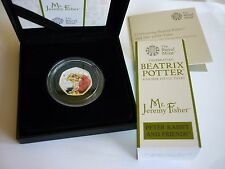 BLACK BOX JEREMY FISHER SILVER PROOF 50p COLOURED Ltd EDITION 1000 ROYAL MINT