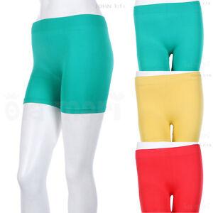 Women Seamless Short Leggings Basic Plain Solid Layering Athletic Shorts Stretch