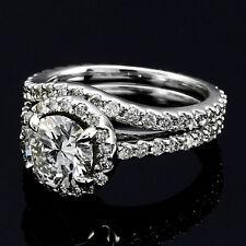 2.76 CT ROUND CUT DIAMOND HALO ENGAGEMENT RING 14K WHITE GOLD ENHANCED
