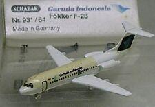 MES-25072  Schabak 1:600 Fokker F-28 Garuda Indonesia OVP,aus Sammlungsauflösung