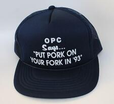 """OPC Says... """"PUT PORK ON YOUR FORK IN '93"""" Tucker Baseball Cap Hat One Size Mesh"""