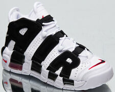 Nike Air Uptempo GS Older Kids' White Black Red Athletic Lifestyle Sneakers Shoe