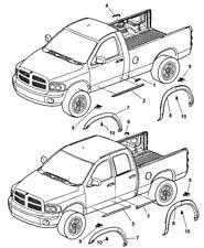 2003-2009 Dodge Ram Front Door Window Molding Driver Side New OEM 55077171AC