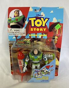 Disney Toy Story Buzz Lightyear Flying Rocket Action Figure 1995 Thinkway NEW
