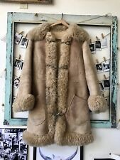 """The Little Wing"" Penny Lane Vintage Genuine Leather Suede Sheepskin Coat"