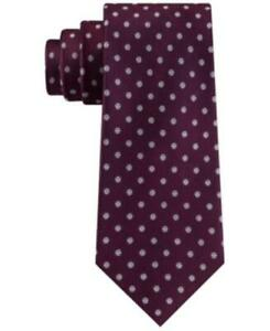 MSRP $69 Tommy Hilfiger Men's Mont Classic Dot Stripe Tie Red One Size