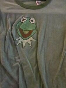 T SHIRT - Kermit The Frog Green Tee Women's Large L