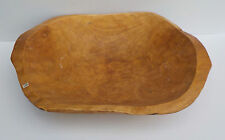 """MEXICAN HAND CARVED HEAVY WOODEN DEEP SERVING BOWL W HANDLES  b 17 1/2"""" X 13"""""""