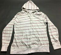 Jordan Craig Mens Gray Striped Long Sleeve Zip Up Hoodie Jacket Size XL