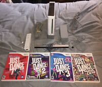 Nintendo Wii Console Gamecube System Bundle Just Dance Lot (LOUD DISK DRIVE)