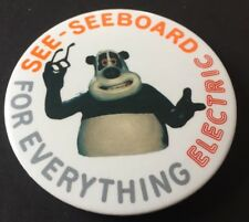Vintage Badge Seeboard Electric Creature Comforts Panda 5.5cm Button Pin B020