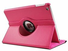 New Premium 360 Degree Rotational Leather Case For iPad Air 1 - Hot Pink