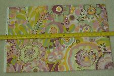 "23"" Long x 44"", Pastel Floral Quilter's Cotton,  Alexander Henry, M6780"