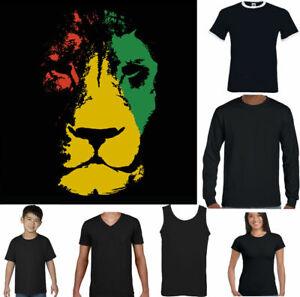 BOB MARLEY T-SHIRT Mens Reggae Jamaica Jamaican Flag Rastafarian Rasta Lion