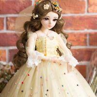 """24"""" 1/3 BJD Doll Puppe Puppen Perücke Kleid Full Set Make-Up Spielzeug Mädchen"""