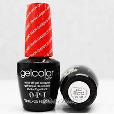 OPI GelColor GC H47 A GOOD MAN-DARIN IS HARD TO FIND 15mL UV LED Gel Red-Orange