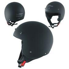 Peak Open Face Helmet Lid Motorbike Jet Scooter Quad A-pro Black Matte L