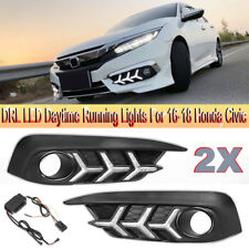DRL LED Daytime Running Light Fog Driving Lamp For Honda Civic 2016 2017 2018
