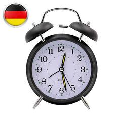 DE Uhr Aufziehwecker Glockenwecker Nostalgie Doppelglocken Wecker Vintage Retro