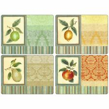 Pimpernel Set 4 Couture Fruits Cork Backed 8413 Dinner Size 12x16 Placemats