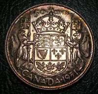 Old Canadian Coins 1951 CANADA FIFTY CENTS