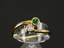 Zarter Tsavorith Brillant Ring Neu & Ungetragen aus eigener Werkstatt 750/- WG