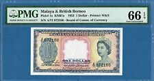 Malaya & British Borneo, 1 Dollar, 1953, Gem UNC-PMG66EPQ, P1a