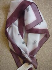 LAURA ASHLEY PURPLE & PINK COUNTRY ESTATE SQUARE GEORGETTE SCARF. BNWT. FAB