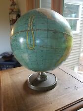 Cram's Universal Terrestrial Globe 10 1/2 Inch With Metal Stand #105 USA